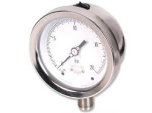 Manómetro de acero inoxidable