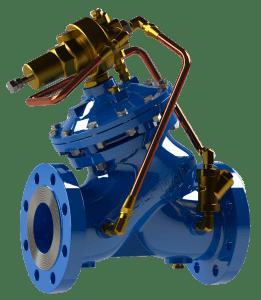 fotografia da válvula modelo 730 na cor azul
